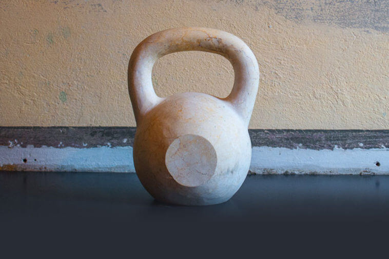 Real Marble Kettlebell by TeamDoW