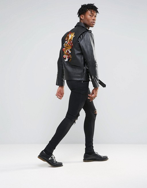Reclaimed Vintage Biker Jacket by ASOS
