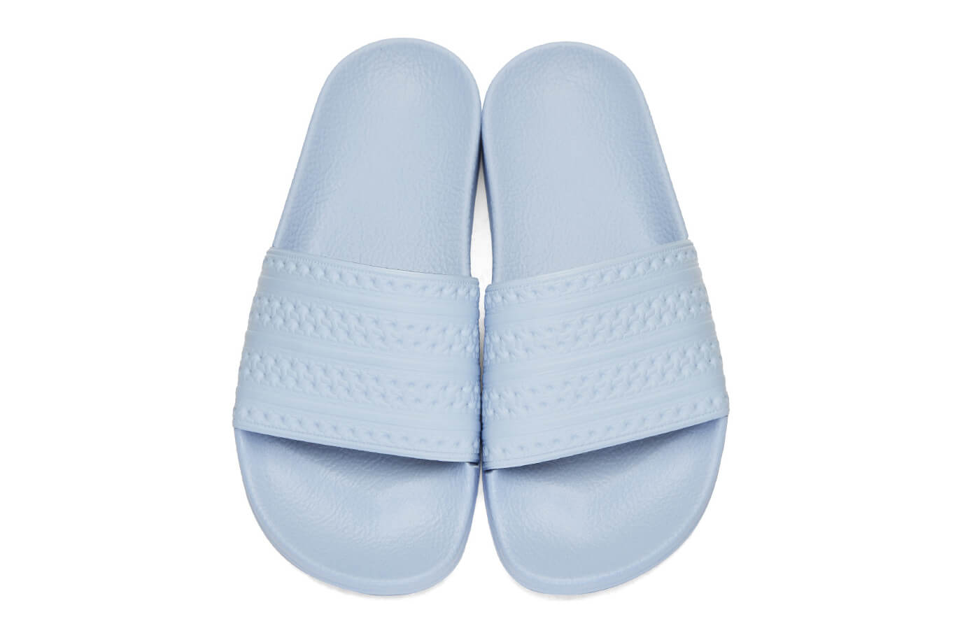 adidas Originals ADILETTE - Pool sliders - blue/white JUtSz8UGZ
