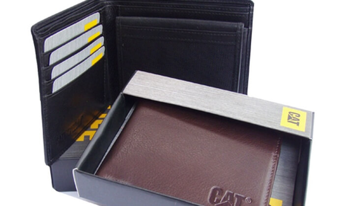 Wallets by Caterpillar in black and brown