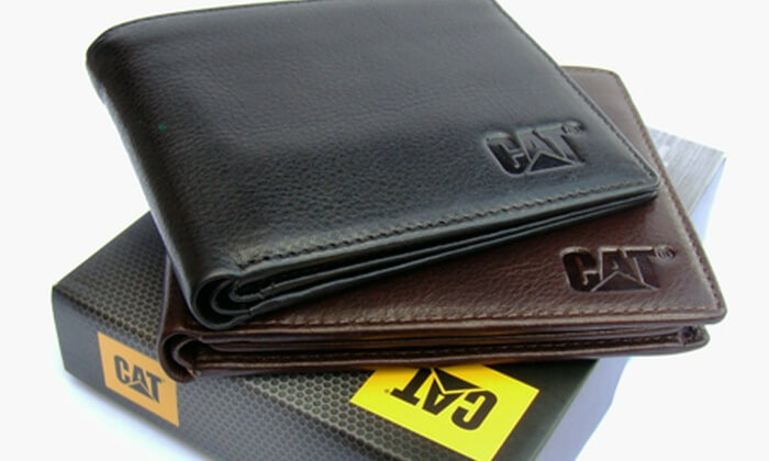 Wallets by caterpillar in brown and black